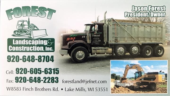 Forest Landscaping & Construction, Inc. - Excavating - Lake Mills, WI - Thumb 4